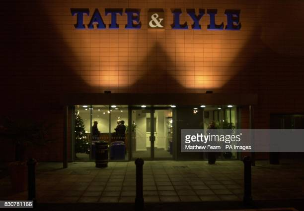 The main reception of the Tate Lyle sugar refinery in Silvertown North Woolwich London Antiterrorist officers were searching a cargo ship in the...