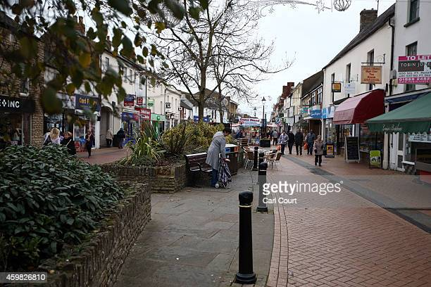 The main shopping street is pictured on December 2 2014 in Bicester England Up to 13000 new homes are due to be built on the edge of the town after...