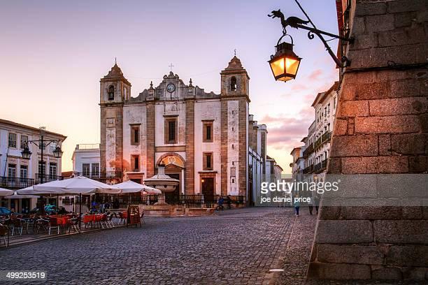 The Main Square at Evora, Alentejo, Portugal