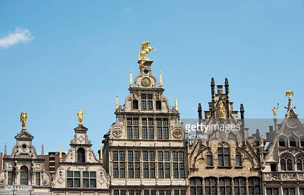 The main square (Grote Markt) in the city of Antwerp, Belgium, Europe