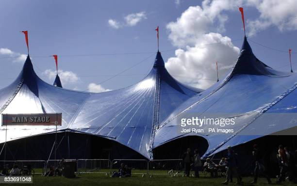 The Main Stage tent at BBC Radio 1's Big Weekend in Preston
