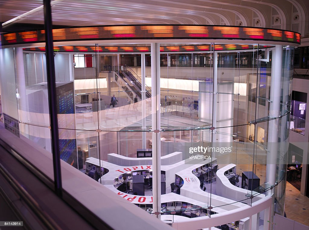 The main trading room of the Tokyo Stock Exchange