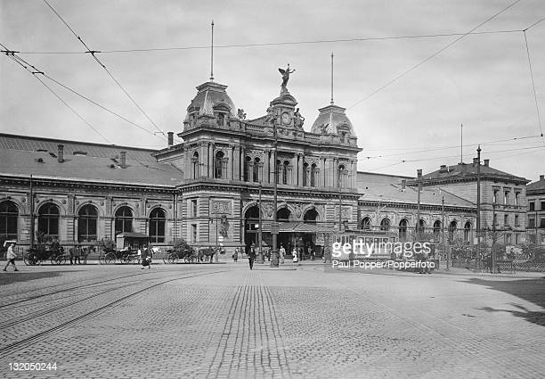 The Mainz Hauptbahnhof Mainz Germany circa 1900