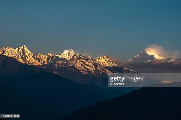 The majestic Kanchendzonga range