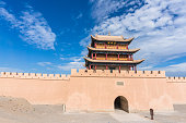 Fort Jiayuguan is the Western Terminus of the Great Wall of china,Gansu Province,China.