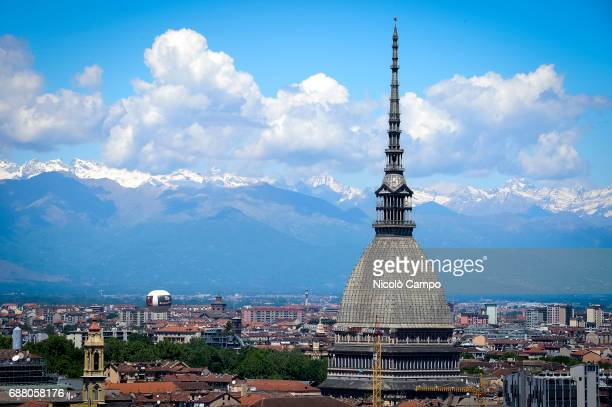 The major landmark building in Turin 'Mole Antonelliana' is pictured on a sunny day The Mole appears on the reverse of the twocent Italian euro coins...