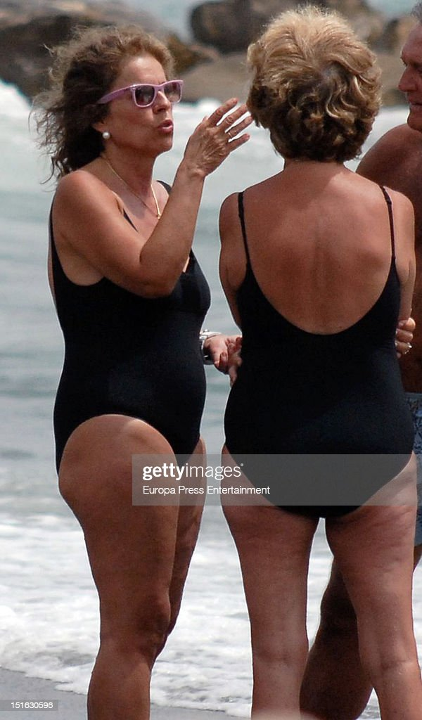 The major of Madrid Ana Botella is seen on August 12 2012 in Marbella Spain