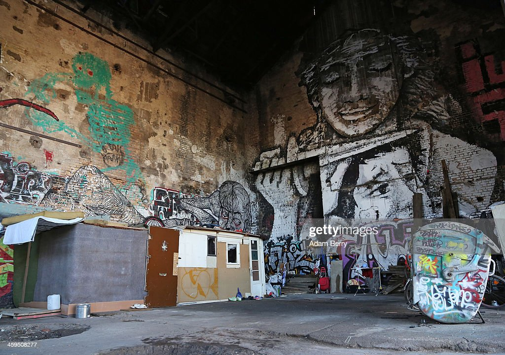 The makeshift shelters of Roma from Bulgaria are seen inside a former ice factory known locally as the Eisfabrik on December 27, 2013 in Berlin, Germany. The future of several homeless members of the Roma community, mostly from Bulgaria, remains uncertain as officials decide whether to evict those who have taken up residence over the past two years in the decayed structure. Citizens of Romania and Bulgaria, countries which joined the European Union in 2007, will be granted full access to European job markets next year, which some critics fear may bring about 'welfare tourism,' seeing squats such as those in the Eisfabrik as a warning of what will come if the immigration is unregulated.