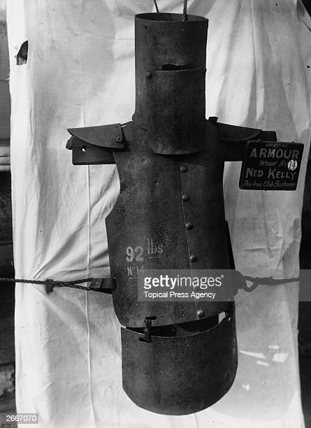 The makeshift suit of armour worn by Australian folk hero and bushranger Ned Kelly during his years as an outlaw from the British authorities