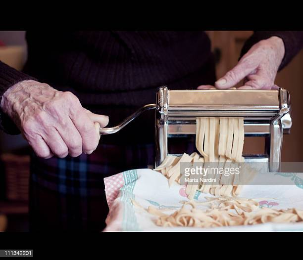The making of tagliatelle - grandmother tradition