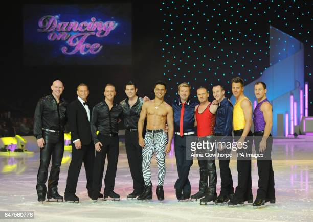 The male dancers Sean Rice Andrei Lipanov Dan Whiston Sam Attwater Chico Christopher Dean Matthew Wolfenden Andy Whyment Matt Evers and Lukasz...