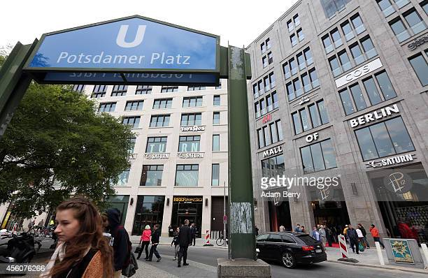 The Mall of Berlin stands outside the Potsdamer Platz public transport train station on September 25 2014 in Berlin Germany The new shopping mall...