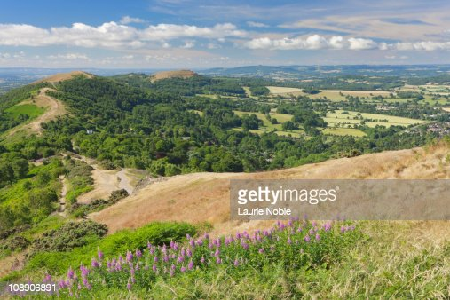 The Malvern Hills; Worcestershire; Cotswolds : Stock Photo