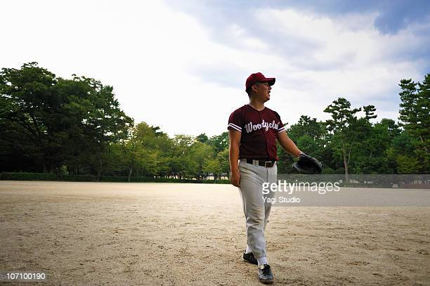 The man of the baseball uniform figure