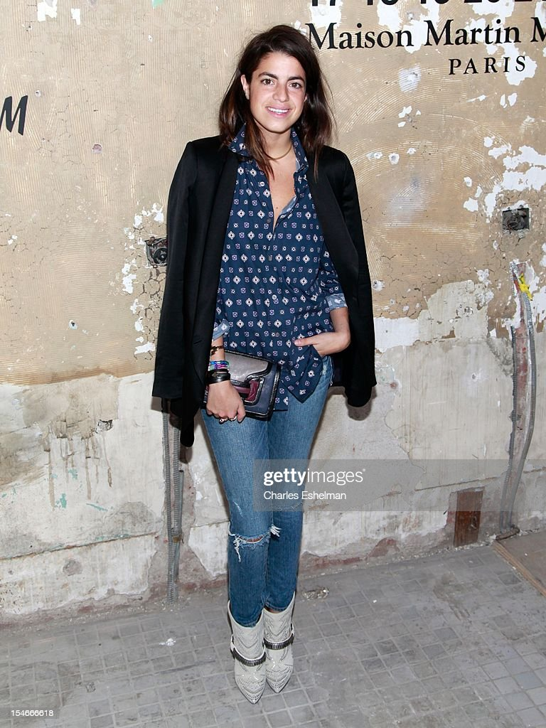 'The Man Repeller' blogger Leandra Medine attends the Maison Martin Margiela & H&M Global launch party at 5 Beekman on October 23, 2012 in New York City.