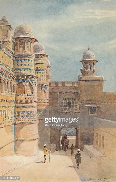 The Man Sing Palace Gwalior' c1880 From The HighRoad of Empire by A H Hallam Murray [John Murray Ablemarle Street London 1905] Artist Alexander Henry...