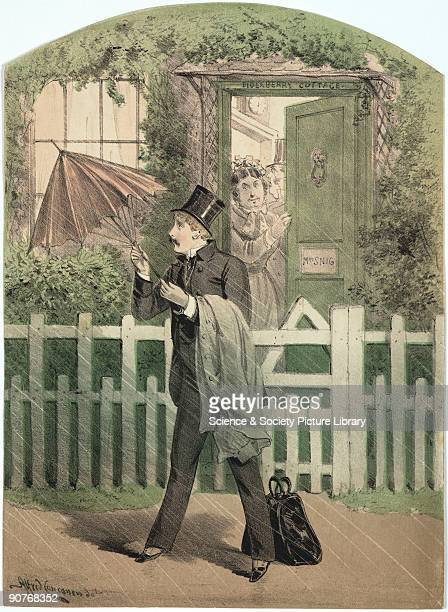 The man who has a black bag suggesting that he may be a doctor is watched by Mrs Snig of Elderberry Cottage