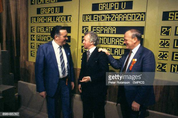 The managers of the three home nations attending the 1982 World Cup at the draw in Madrid Scotland Manager Jock Stein Northern Ireland Manager Billy...