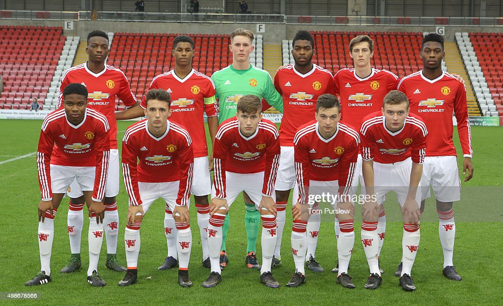 ¿Cuánto mide Marcus Rashford? - Altura - Real height The-manchester-united-u19s-team-line-up-ahead-of-the-uefa-youth-picture-id498678566
