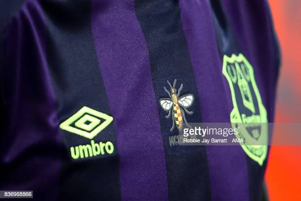The Manchester Worker bee showing support to the victims of the Barcelona attack during the Premier League match between Manchester City and Everton...