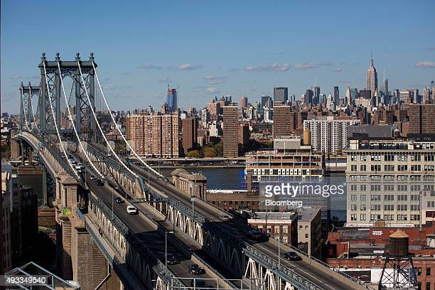 The Manhattan Bridge is seen from the Dumbo Heights campus in the Brooklyn borough of New York US on Thursday Oct 15 2015 Dumbo Heights a group of...