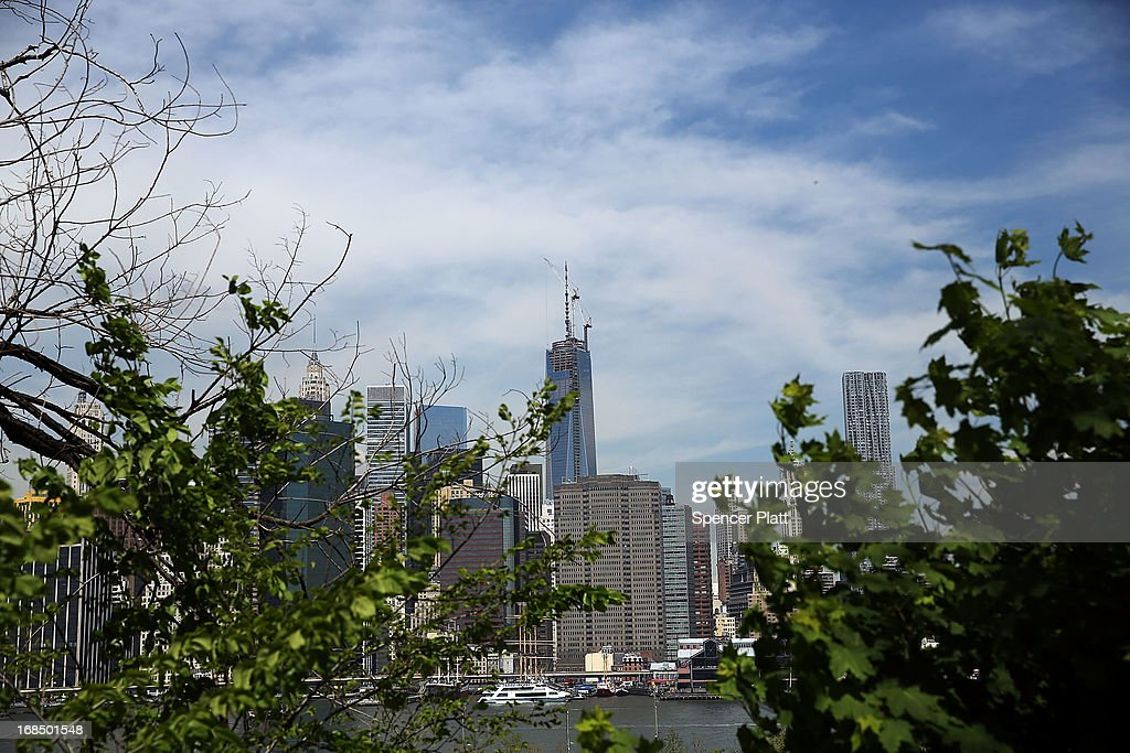 The Manhattan skyline with One World Trade Center, now the tallest building in the United States, is viewed on May 10, 2013 in New York City. After more than 11 years of construction and planning, One World Trade Center reached its final height Friday morning of 1,776 feet. When it opens for business in 2014, One World Trade center will be home to companies including Conde Nast and Vantone Holdings China Center. One World Trade Center is built on the site where the September 11, 2001 attacks toppled the original World Trade Center towers.