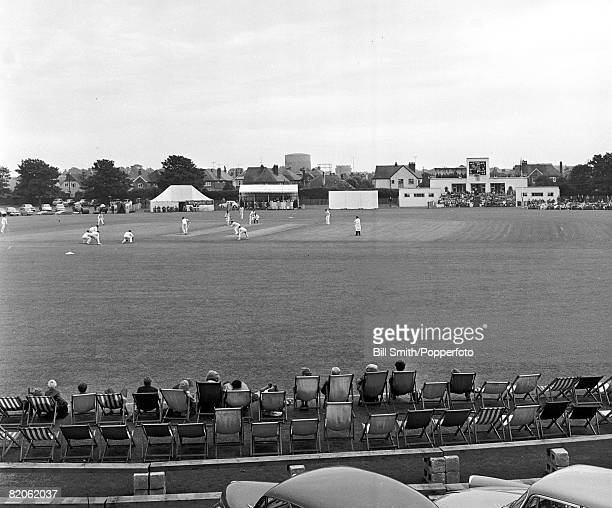 The Manor Ground in Worthing used by Sussex County Cricket Club 1964