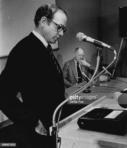 The Mantle of Bronco Ownership passes to Edgar F Kaiser Jr Kaiser standing at microphone is a resident of Vancouver B C and chairman and chief...