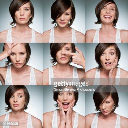 The Many Faces of Megan : Stock Photo