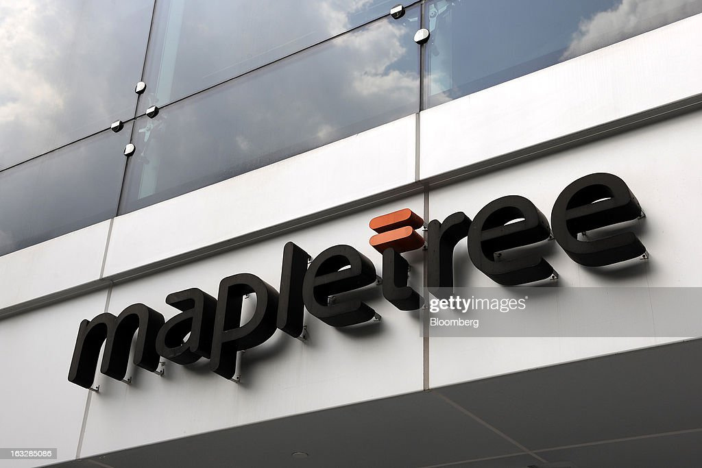 The Mapletree Investments Pte logo is displayed at Mapletree Business City in Singapore, on Thursday, March 7, 2013. Mapletree Greater China Commercial Trust, Asia's biggest share sale this year, gained on its first trading day as investors were attracted by returns higher than those of comparable properties. Photographer: Munshi Ahmed/Bloomberg via Getty Images