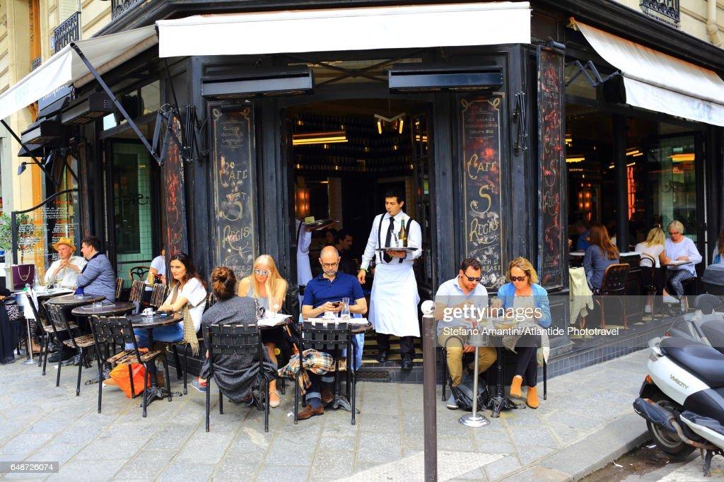 The Marais, a café : Stock Photo