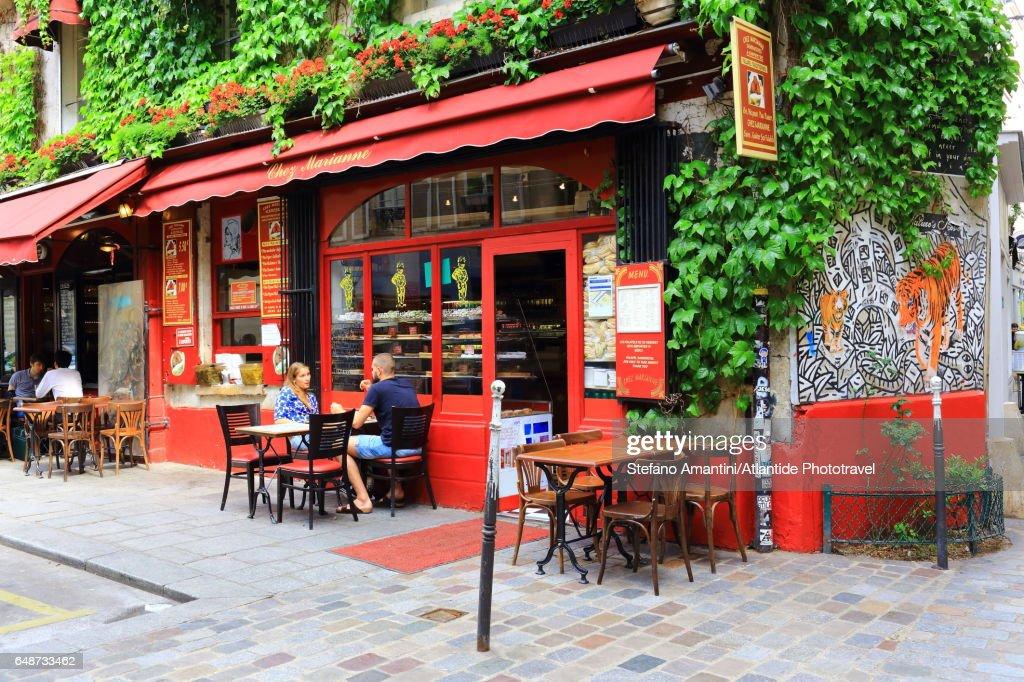 The Marais, a café : Foto stock