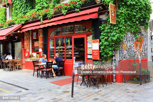 The Marais, a café : Stock Photo