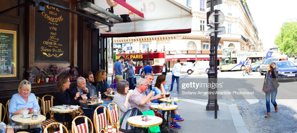 The Marais, a café : Stockfoto