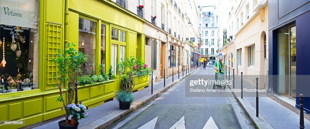 The Marais, a street : Stock Photo
