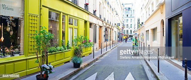 The Marais, a street : Stock-Foto