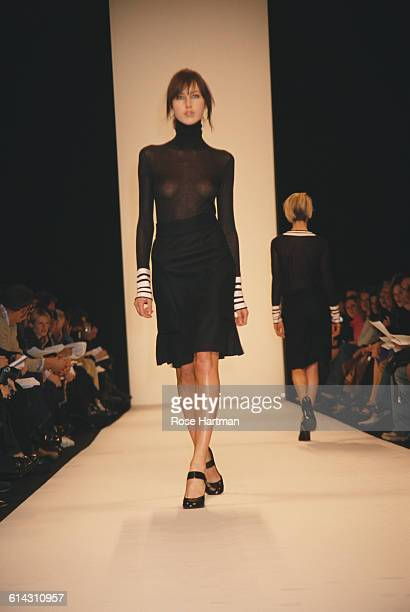 The Marc Jacobs Fall 2001 fashion show on February 12 2001 at Bryant Park in New York City