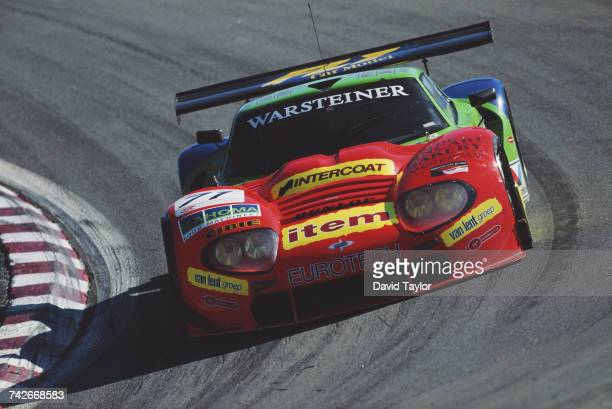 The Marcos Racing International Marcos LM600 Chevrolet V8 driven by Cor Euser and Herman Buurman of the Netherlands during the IMSA GT Championship...