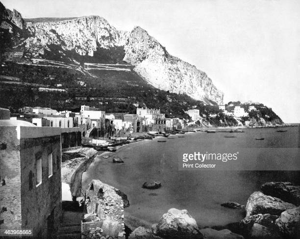 The Marina Capri Italy 1893 Illustration from Portfolio of Photographs of Famous Cities Scenes and Paintings