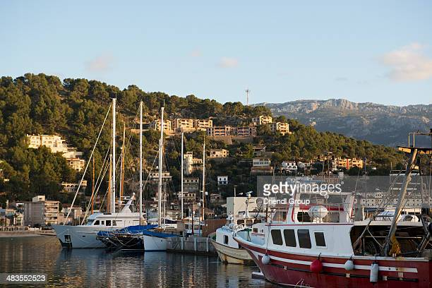 The marina in Port de Soller.