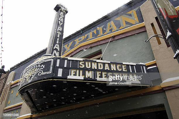 The marquee above the Egyptian Theatre on Main Street during the 2006 Sundance Film Festival in Park City Utah on January 19 2005