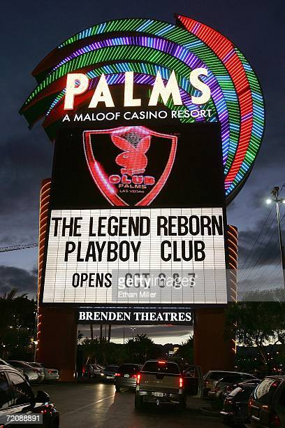 The marquee at the Palms Casino Resort advertises this weekend's opening of the firstever Las Vegas Playboy Club October 4 2006 in Las Vegas Nevada...