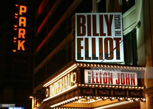 The marquee for 'Billy Elliot The Musical' on Broadway at the Imperial Theatre on November 13 2008 in New York City