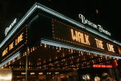 The marquee is shown at the premiere of 'Walk The Line' at the Beacon Theater November 13 2005 in New York City