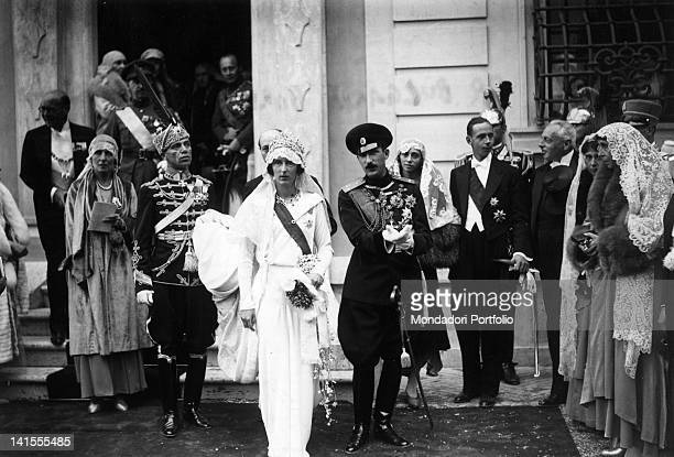 The marriage between King Boris III of Bulgaria and Princess Giovanna of Savoy Assisi 25th October 1930
