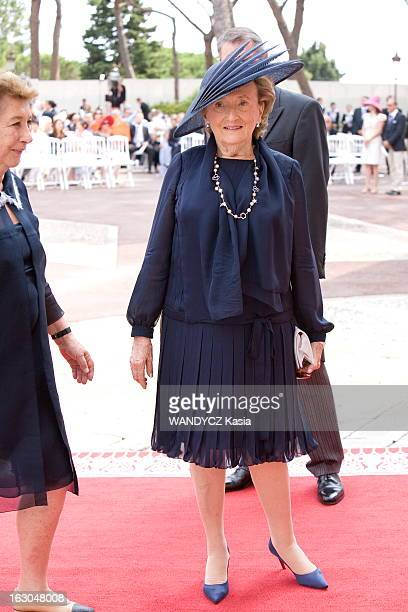 The Marriage Of Prince Albert With Charlene Wittstock Monaco 2 juillet 2011 La cérémonie religieuse arrivée de Bernadette CHIRAC