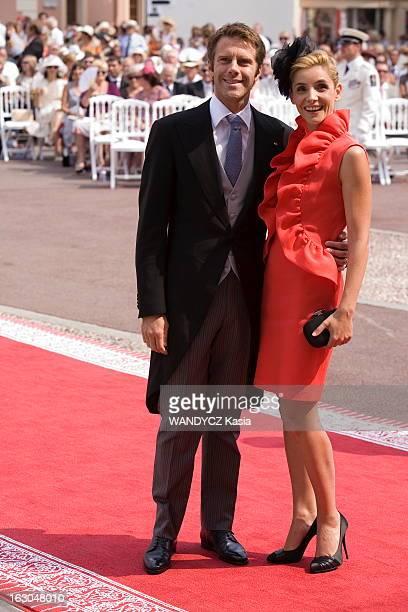The Marriage Of Prince Albert With Charlene Wittstock Monaco 2 juillet 2011 La cérémonie religieuse arrivée du prince EmmanuelPhilibert DE SAVOIE et...