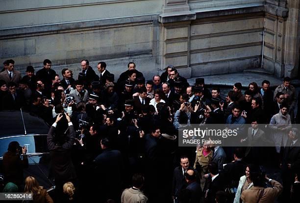 The Marriage Of Raquel Welch And Patrick Curtis En France en février 1967 à l'occasion du mariage de Raquel WELCH actrice et de Patrick CURTIS...