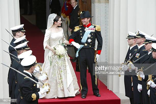 The Marriage Of The Prince Frederik Of Denmark Le mariage du prince FREDERIK DE DANEMARK avec l''australienne Mary DONALDSON à COPENHAGUE Les jeunes...