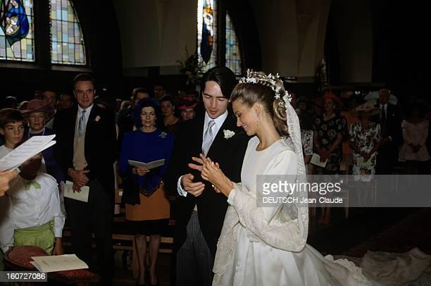 The Marriage Of Thierry Limburgstirum Katia And Katia Della Faille De Leverghen Belgique KoningshofSchoten 8 Septembre 1990 Lors de leur mariage...